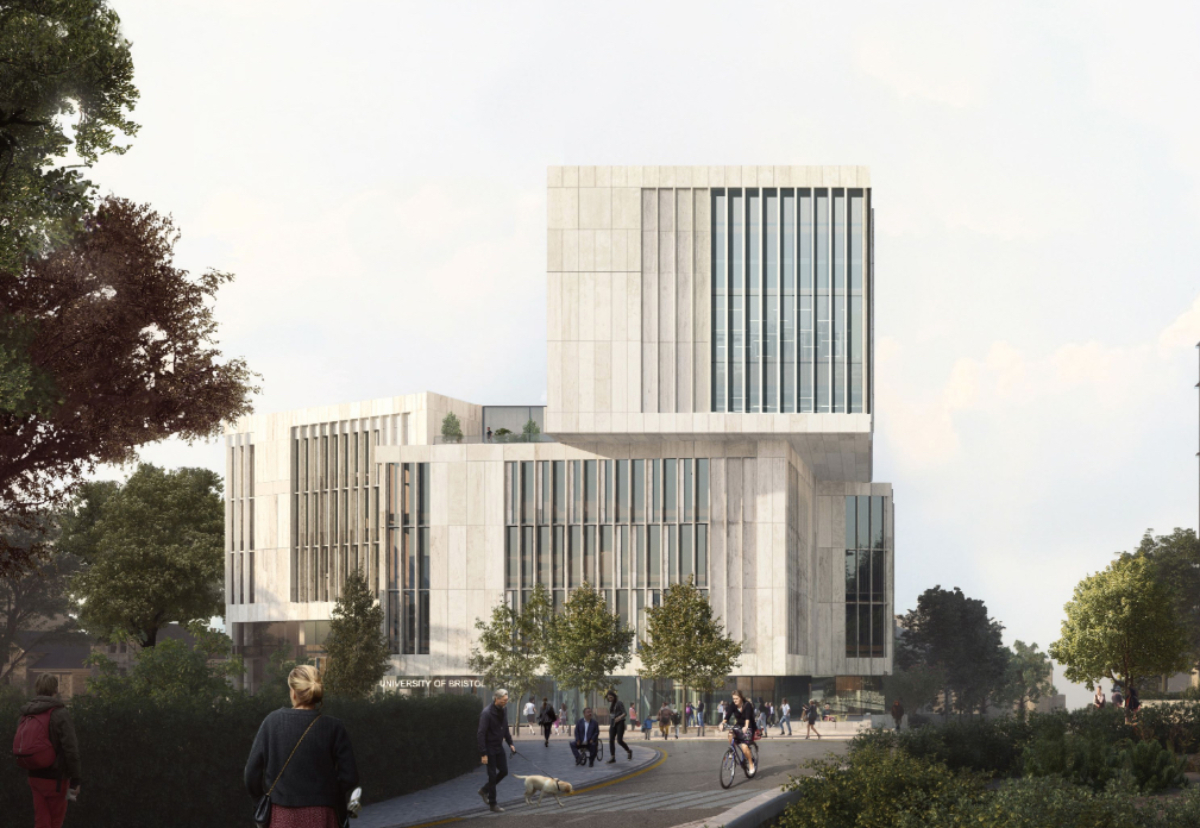 Stepped library design to increase use of natural light
