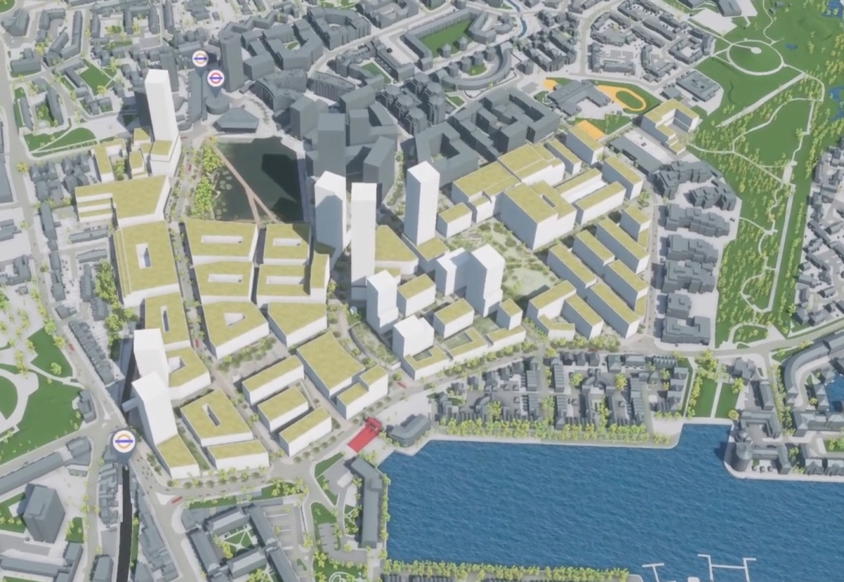 Canada Water masterplan for Rotherhithe