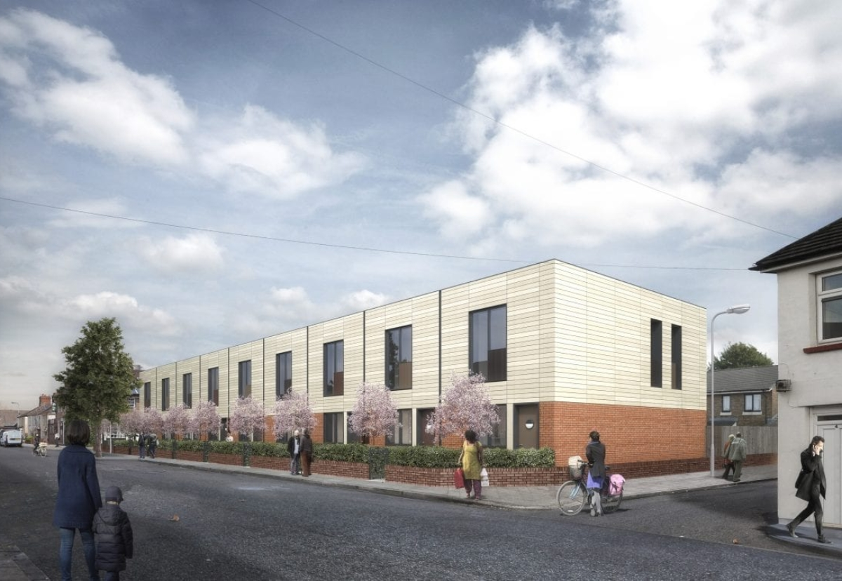 Affordable housing project on Crofts Street in Plasnewydd will see nine, two-bedroom homes built for council rent.