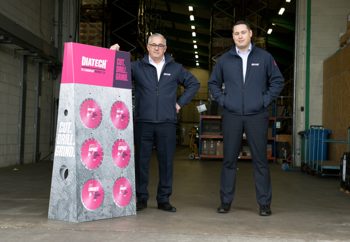 Jeremy Burgess, Managing Director of Diatech with Alex Burgess, Operations Director