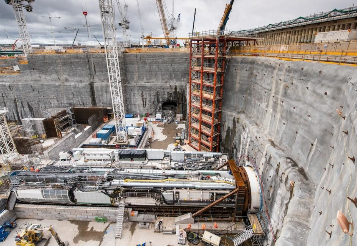 The first of three tunnel boring machines, Mary, has started excavating one of the water intake tunnels for cooling system