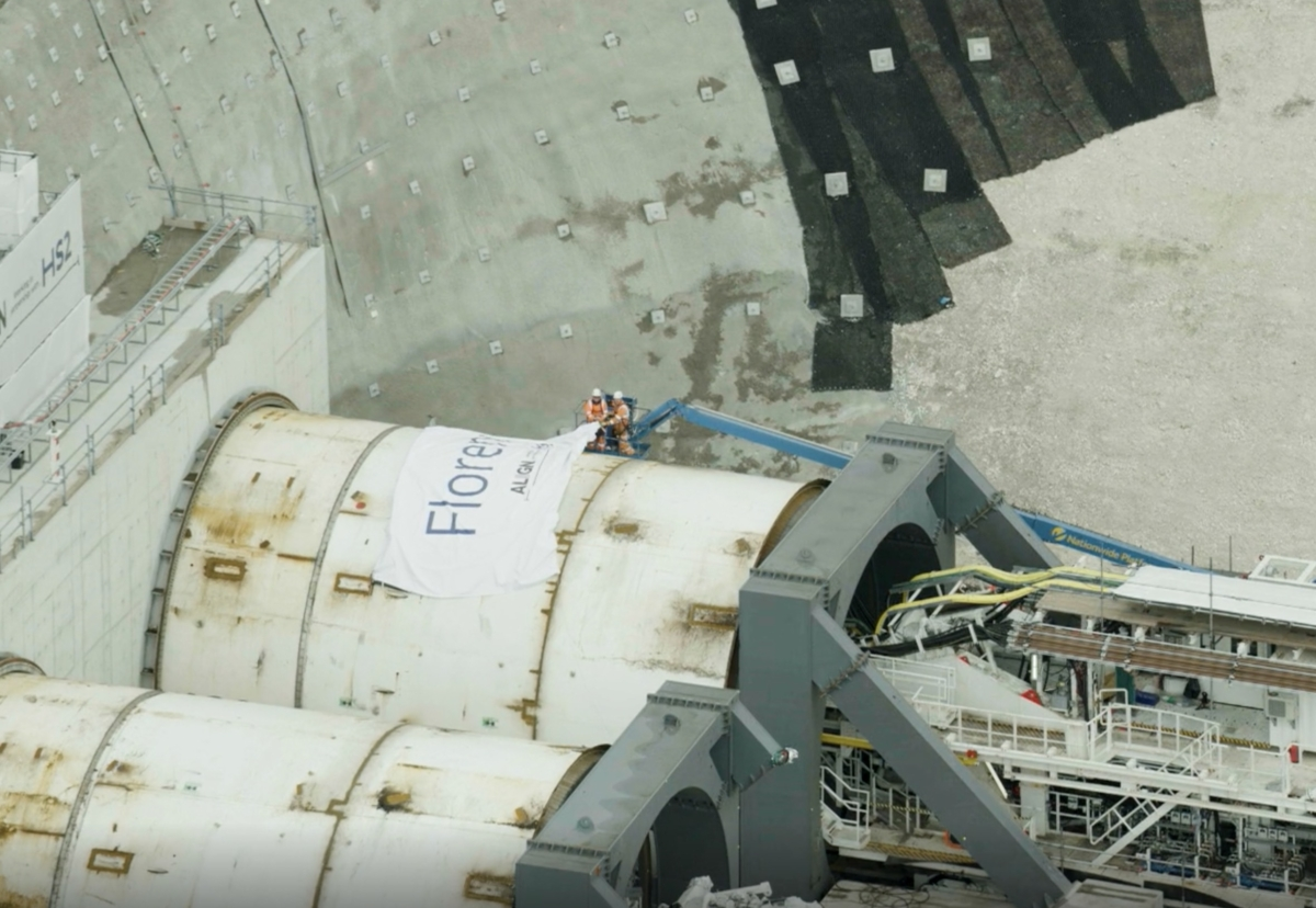 TBM Florence readied to start the tunnelling phase of HS2