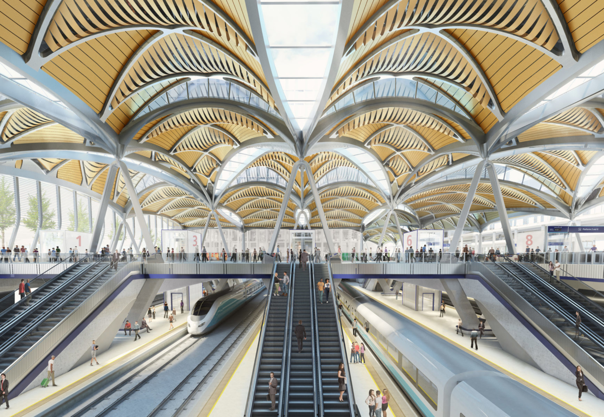 HS2 will more than double capacity at Euston station with 11 new platforms