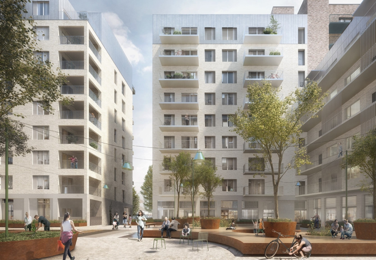 Eventually, more than 526 homes are planned across11 new buildings at the town centre estate