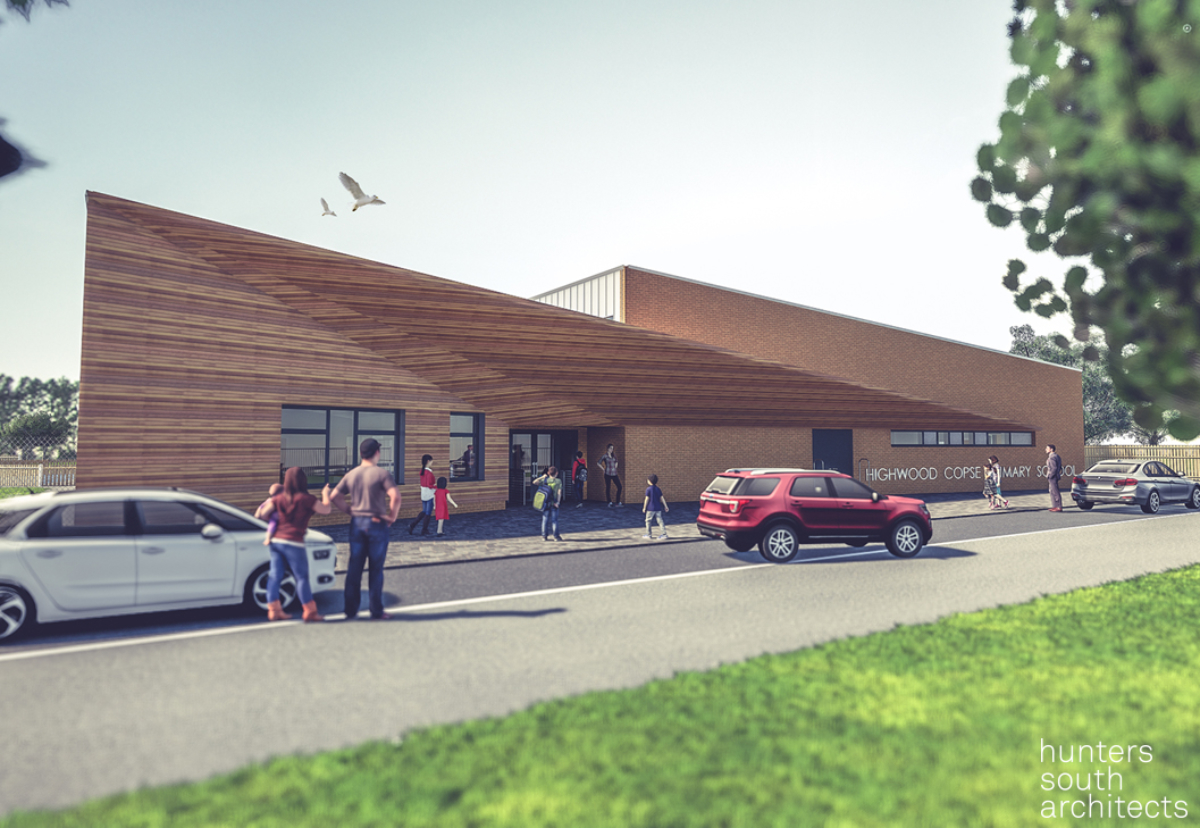 How Highwood Copse primary school will look when eventually completed
