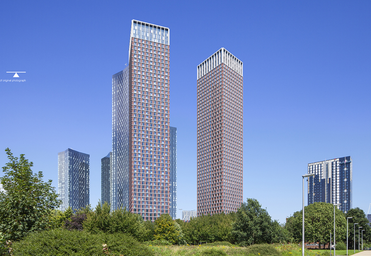 Great Jackson Street twin 56-storey towers designed by Hodder