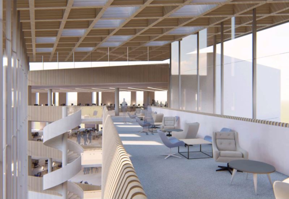 Interior of planned new HQ for Hertfordshire Constabulary