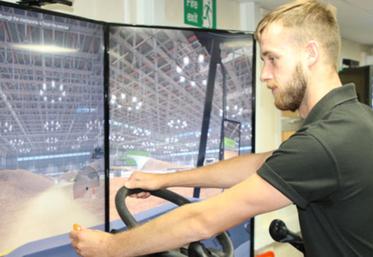 Trainee operators can test drive excavators to cranes in all weather conditions