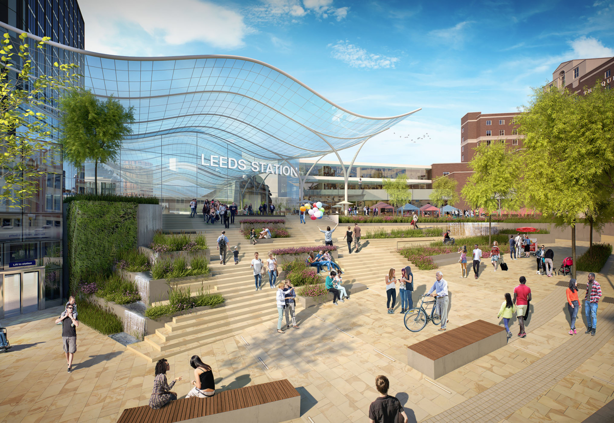 Designs unveiled for £500m Leeds HS2 station hub