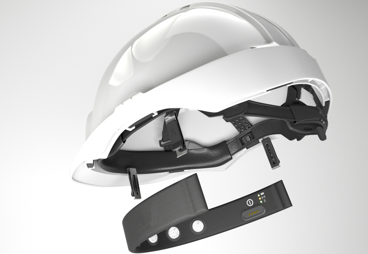 Brain wave sensor has been fitted to hard hats to warn of mental tiredness during long shifts