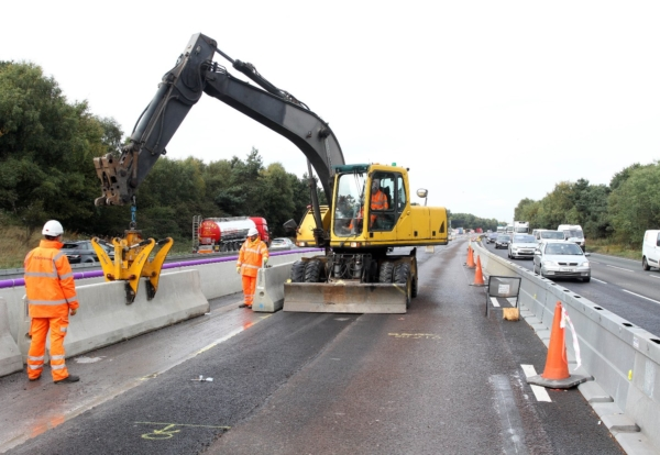 Charcon barriers speed up m installation construction