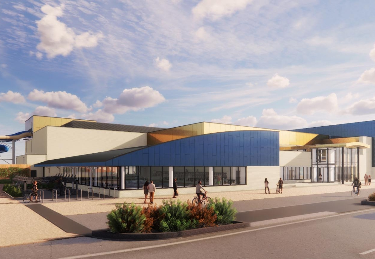 Plan for the new Marina Centre in Great Yarmouth