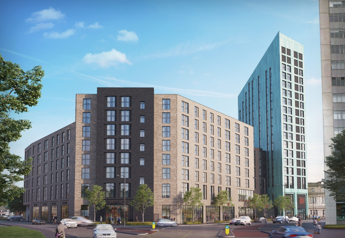 Mariner Road student accommodation scheme in Swansea