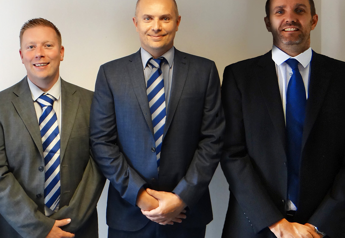 Michael Woods, centre, with Associate Directors Ryan Hubbard & Paul Chaplin