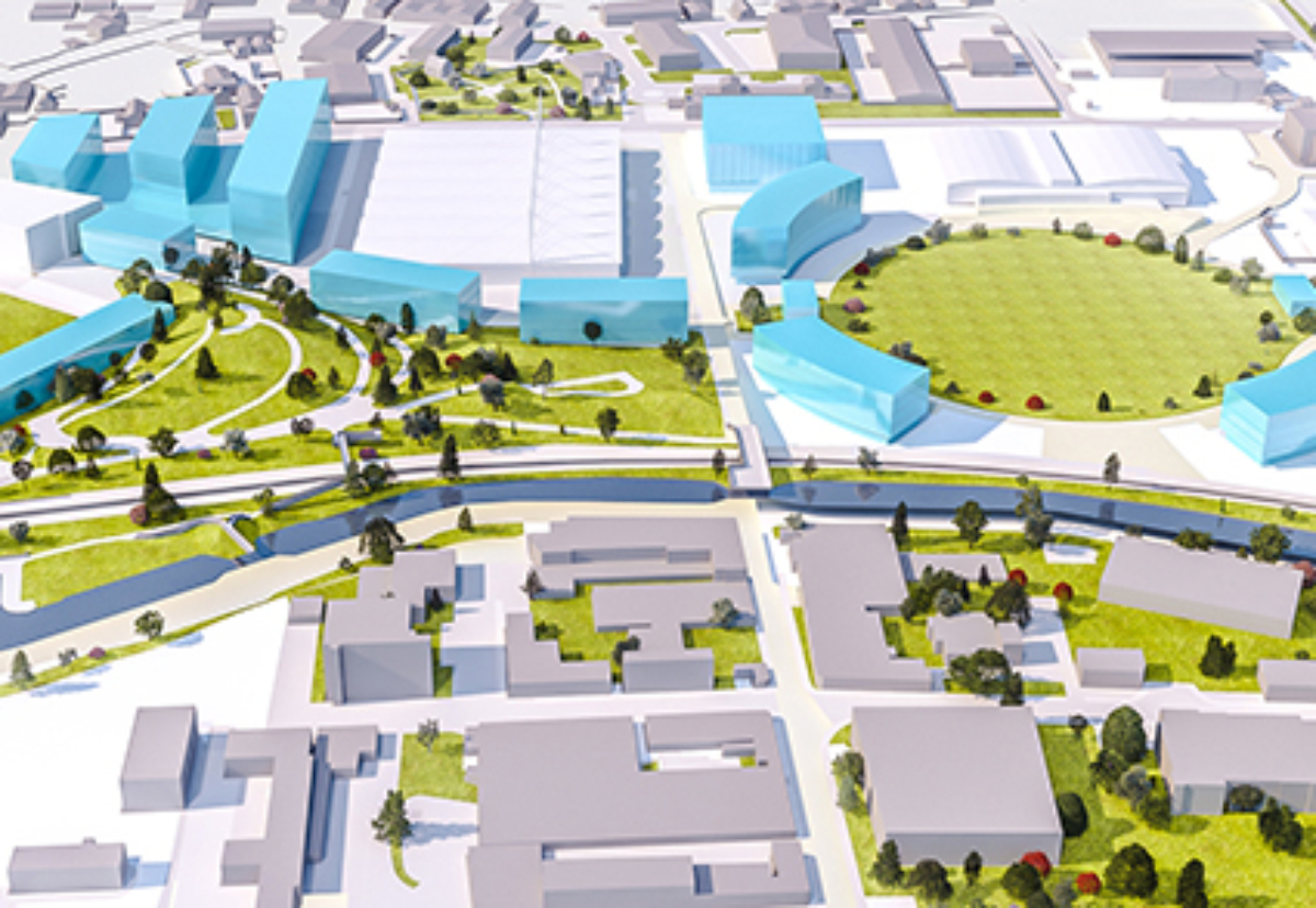Over a dozen new buildings are planned for the 70 acre site