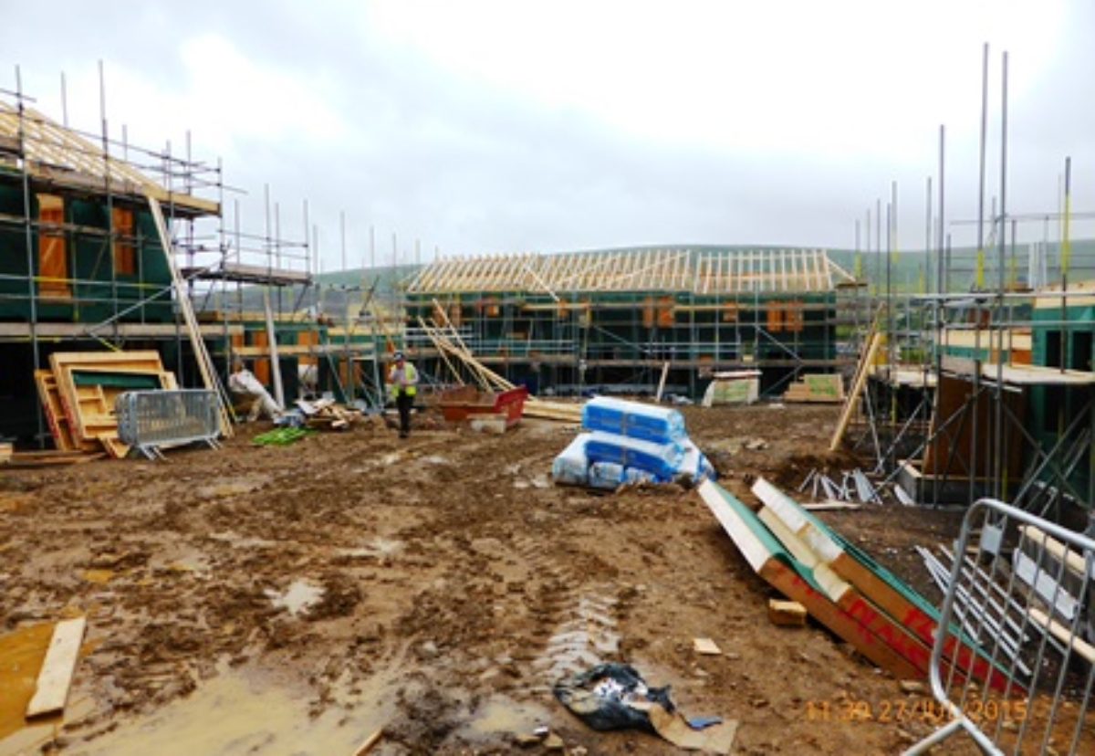 An HSE picture of the site under construction