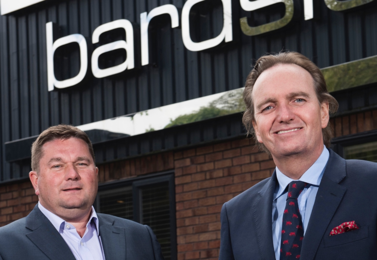 Paul Strutt, managing director of Bardsley Construction and chairman Roly Bardsley in happier times when the business was growing strongly