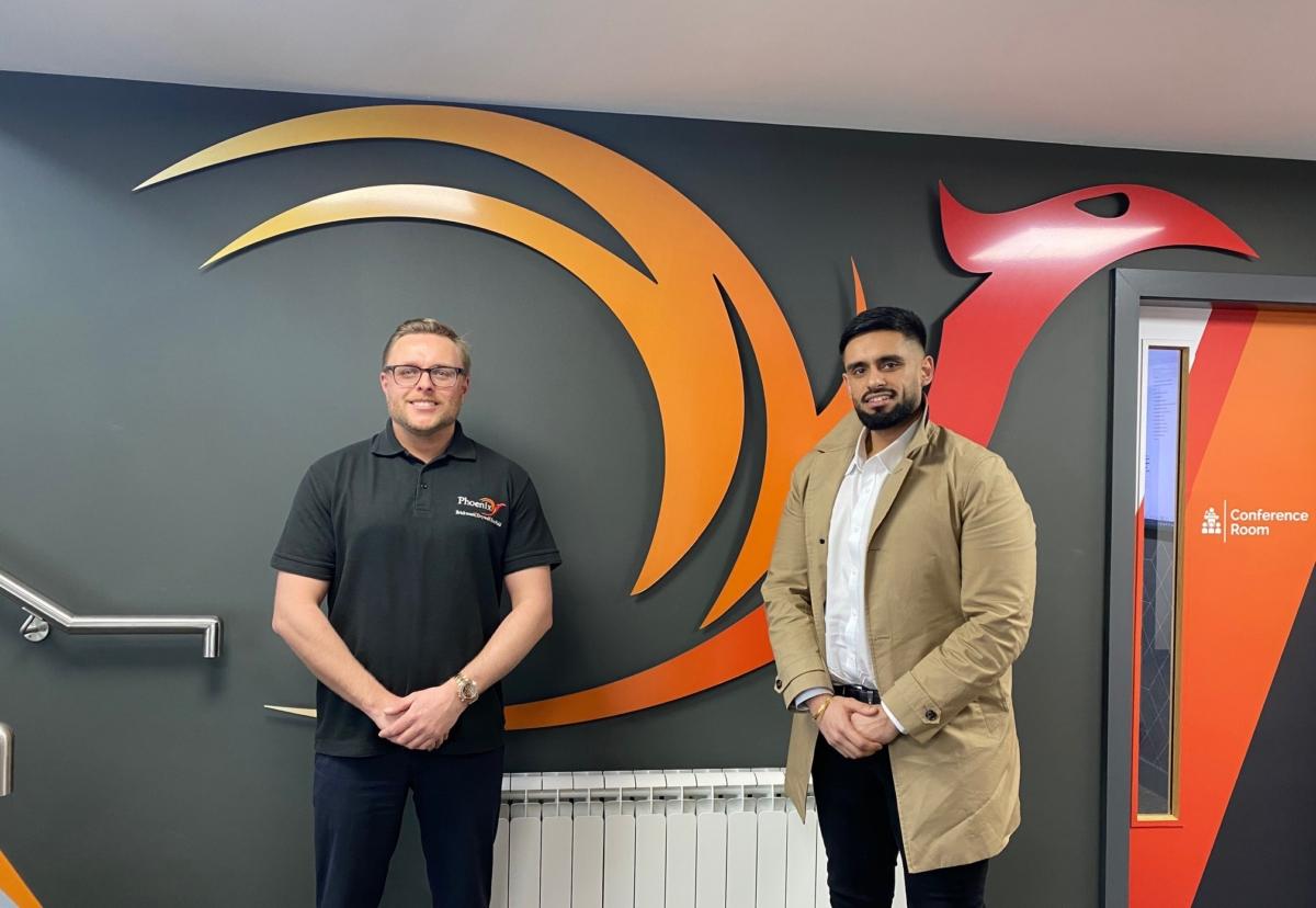 Phoenix managing director Christian Watson welcomes former Irvine Whitlock QS Pav Bains
