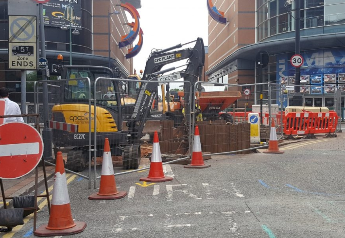 Preliminary groundworks started in July