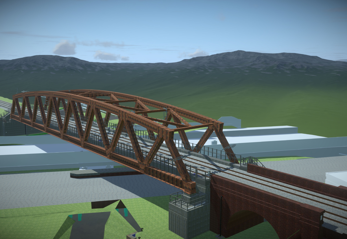 The 92m spam bridge will be the largest single-span railway bridge in the West Midlands