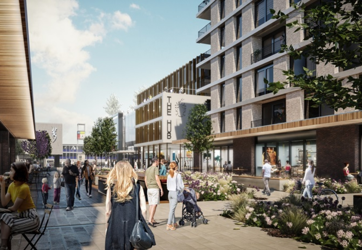 Stevenage town centre SG1 regeneration plan