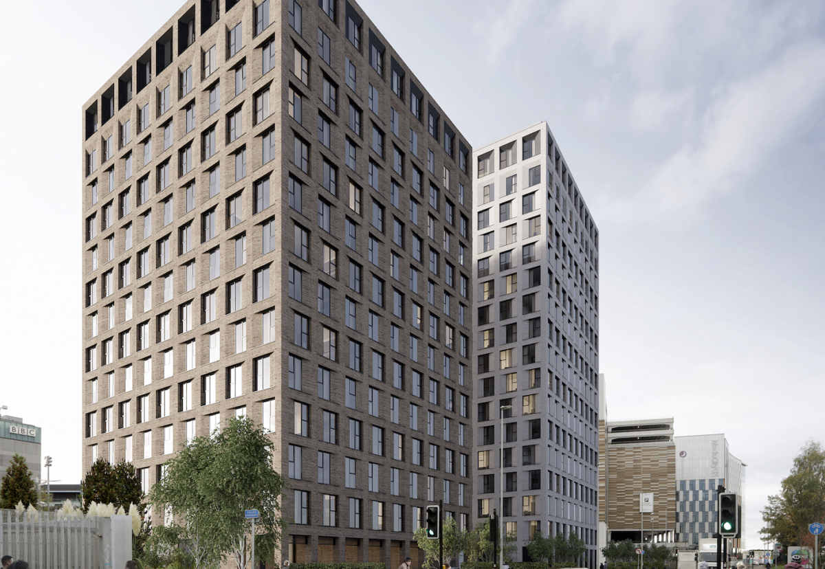 Twin 14 and 17-storey blocks of flats for sale
