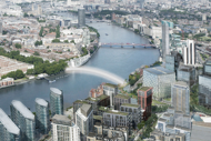 Pedestrian Thames bridge