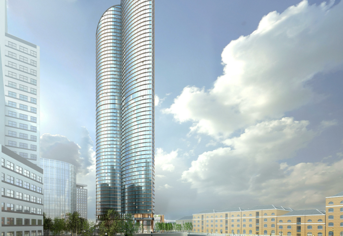 If built the West India Quay tower will hold the record as the tallest block of flats in Europe
