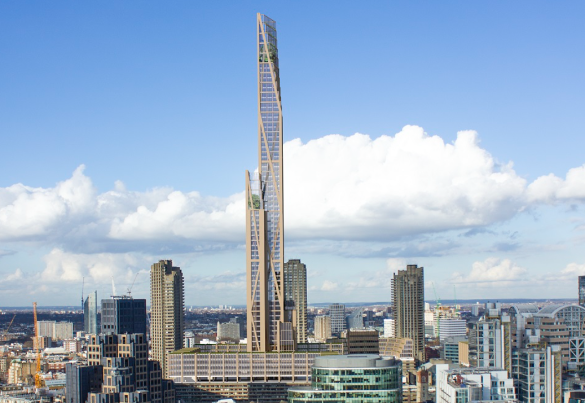 "Slender ""tooth-pick"" like structure could rise to 80-storeys say engineers"