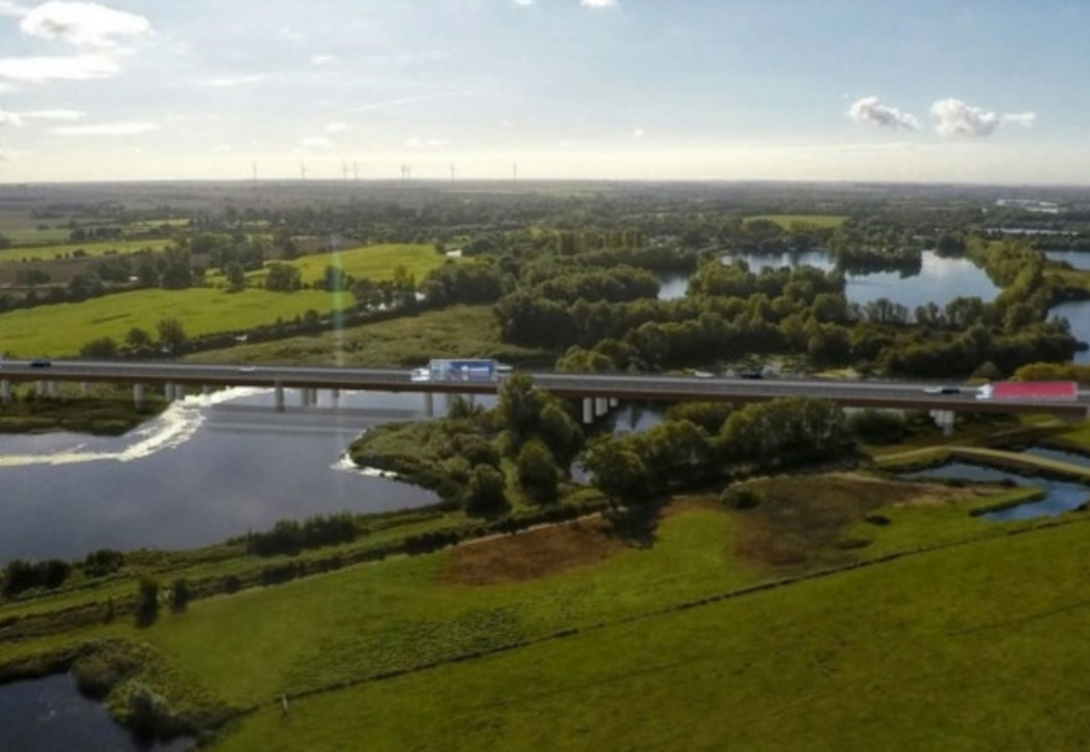 Costain/Skanksa contract includes a bridge over the the River Great Ouse