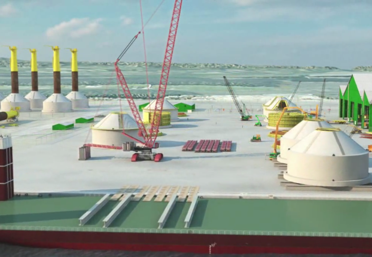 Huge 30m diameter concrete wind turbine bases will be built at Shepherd Offshore's dock on the Tyne