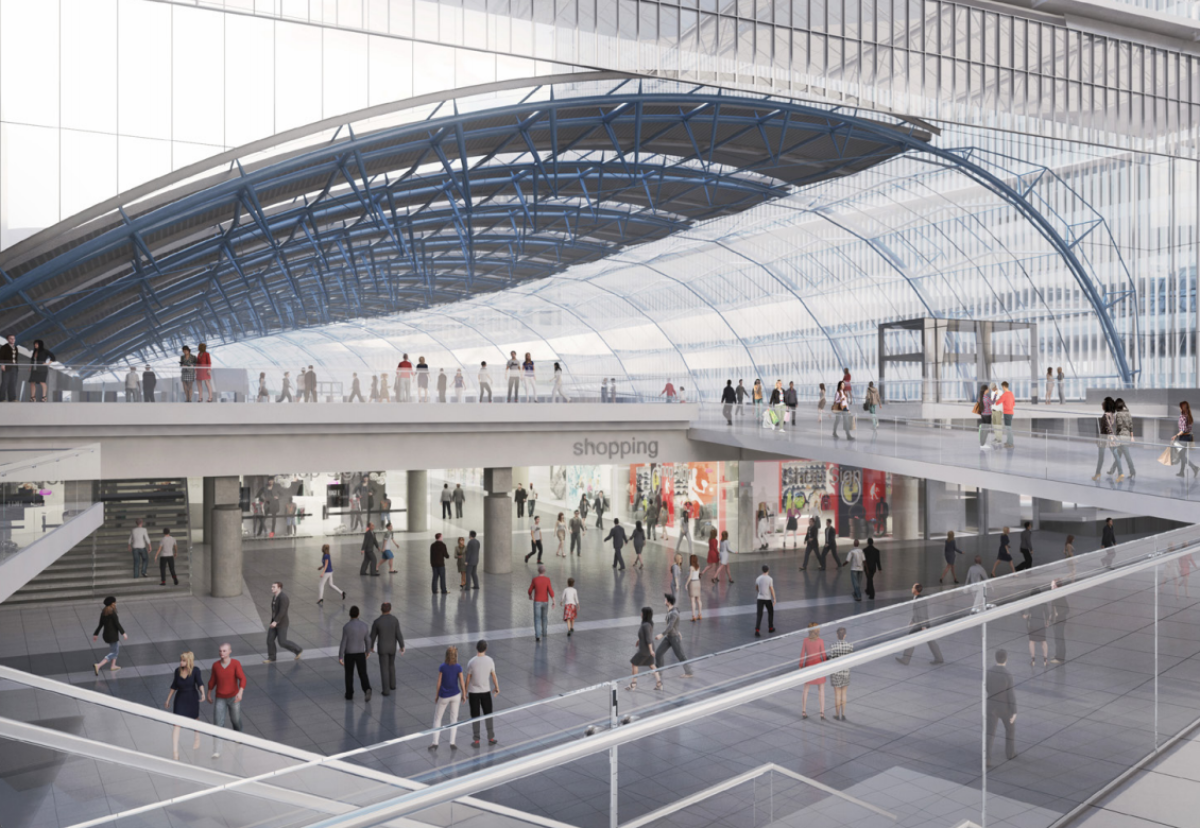 Network Rail and London & Continental Railways aim to create a shopping centre experience that compares with Birmingham New Street