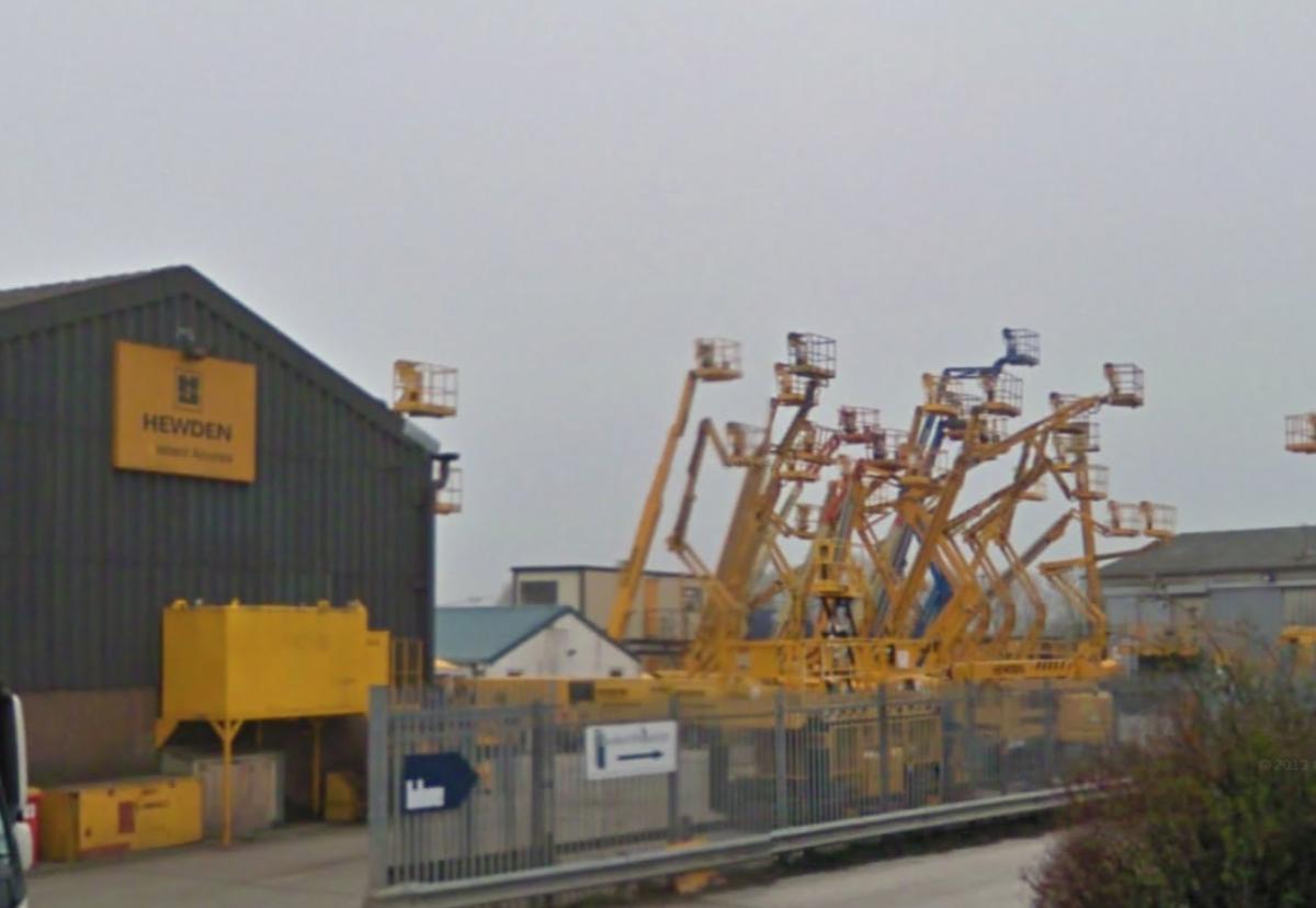 Hewden's Warrington hire yard in better times