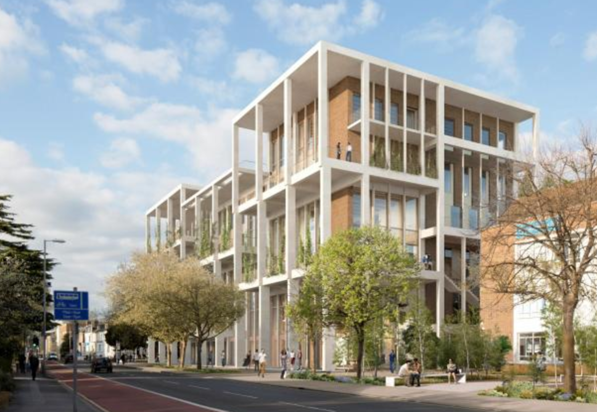 The Town House project replaces an outdated, temporary building with a new environmentally sustainable BREEAM Excellent design