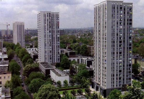 Three of four towers in the Chalcots Estate