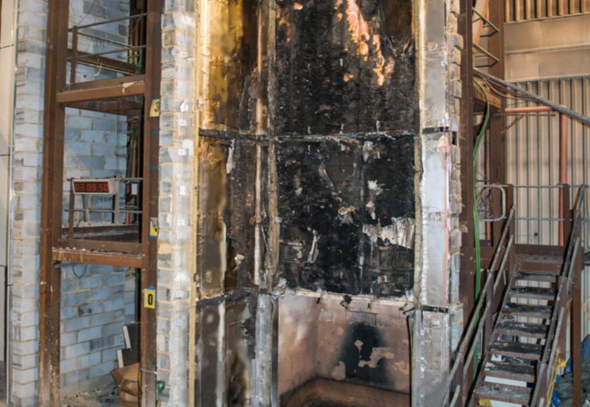 Phenolic foam board fire test result with FR classified ACM