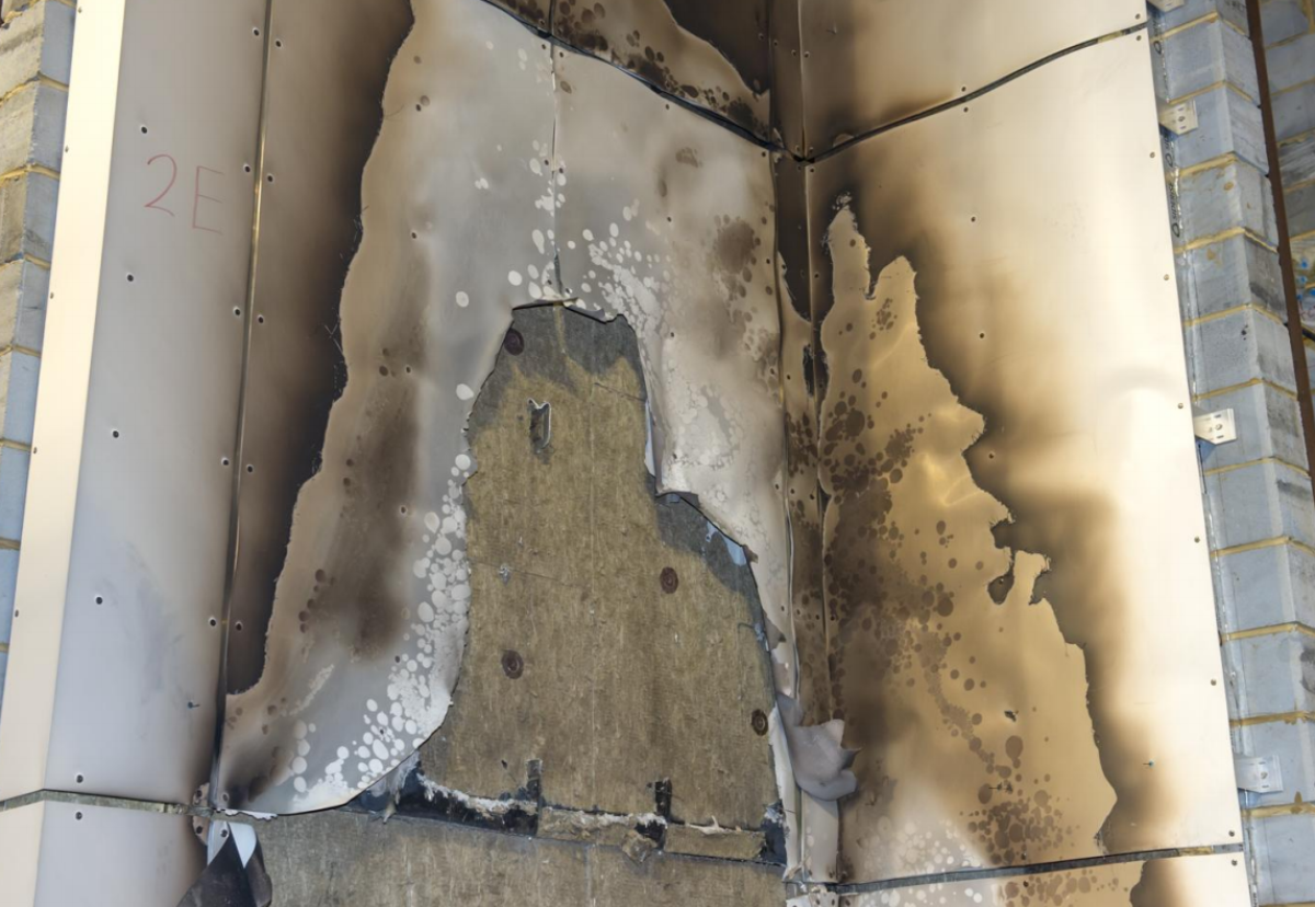 ACM with a limited combustibility filler (A2) with mineral wool insulation passes BRE fire test