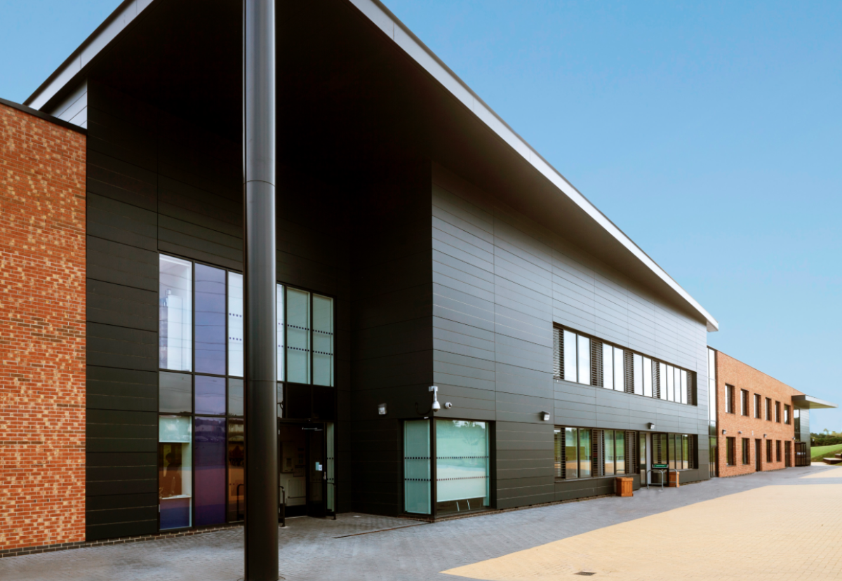 Caledonian showcased its offsite methods on the 1,000 pupil Farnborough School and Technology College in Nottingham