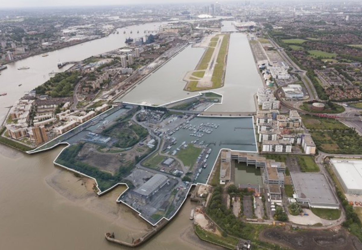 10 ha Albert Island site is largely owned by the Greater London Authority