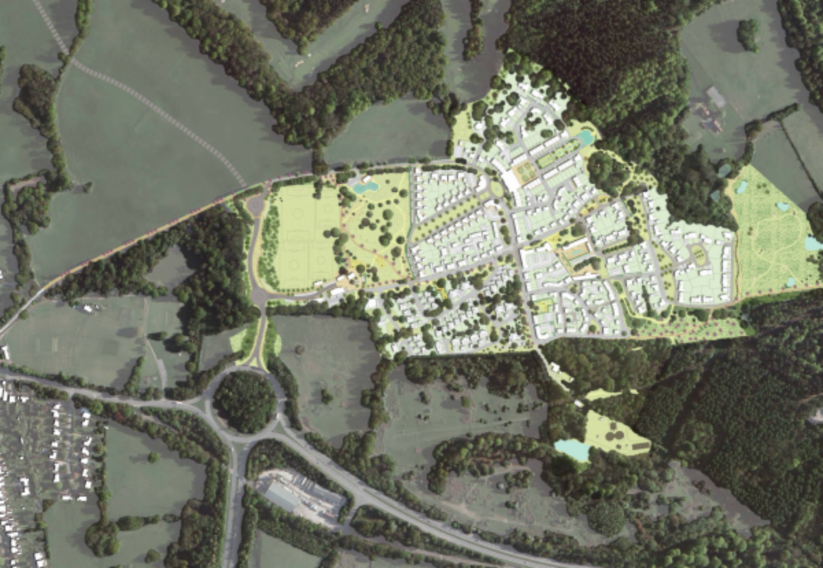 Around 600 homes and 200,000 sq ft of commercial space planned at Wilton Park
