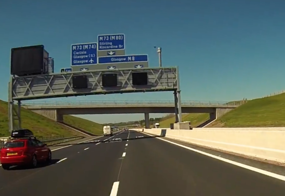 M8 opened in April but snagging work continued to September