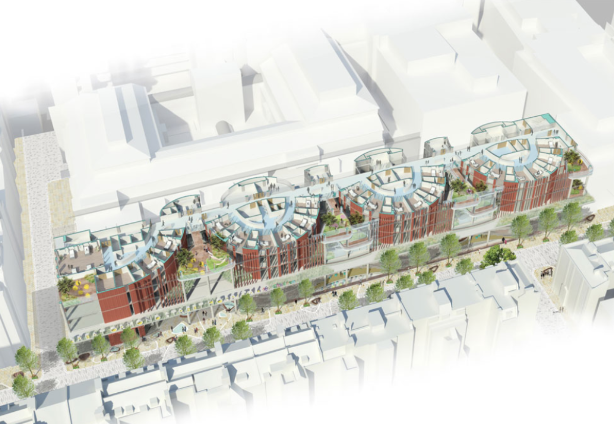 Winning design for new children's cancer centre and front entrance