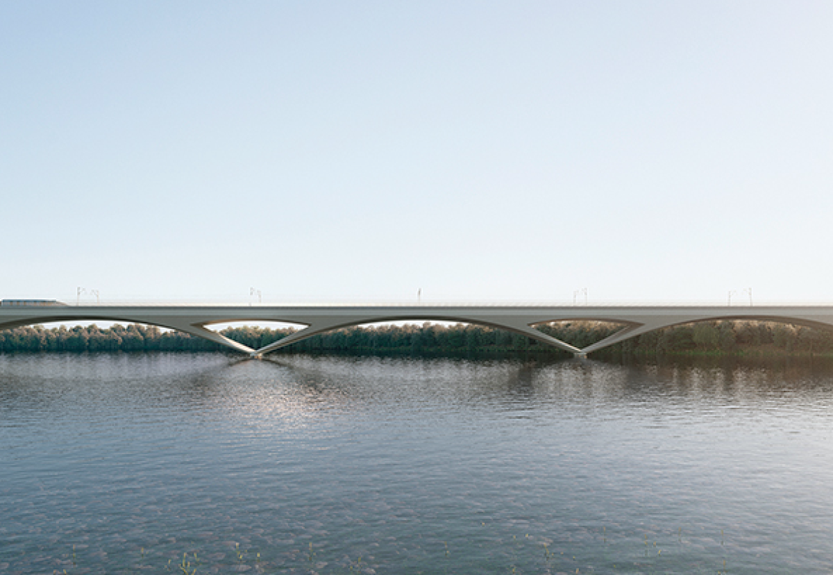 Over 1000 precast segments will be used to construct the 2.1 miles long Colne Valley Viaduct