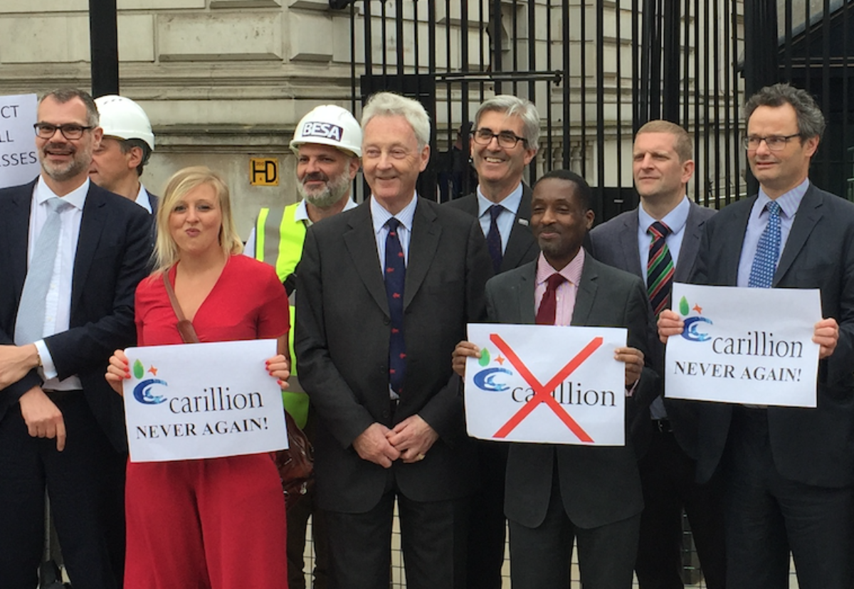 Peter Aldous MP and a delegation of industry leaders from the Building Engineering Services Association, Electrical Contractors Association , Federation of Small Businesses and Federation of Master Builders submitted the petition.