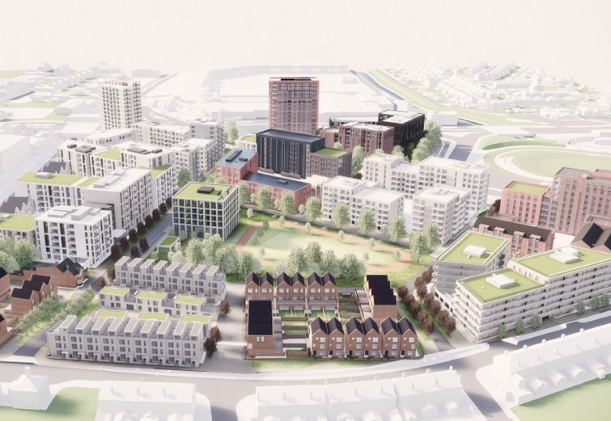 Architect Glenn Howell has designed the scheme for the former Birmingham City University campus site in Perry Barr