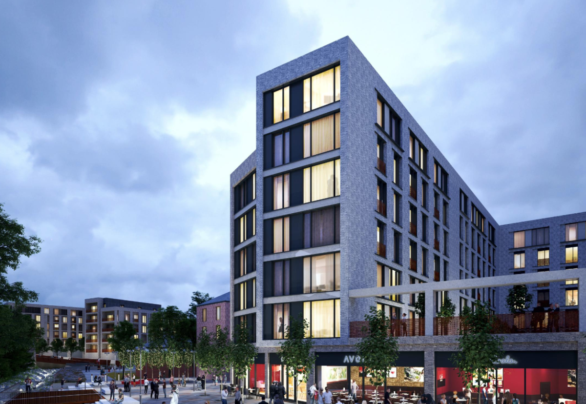 Set alongside the River Croal, Church Wharf will create a distinctive new area of the town