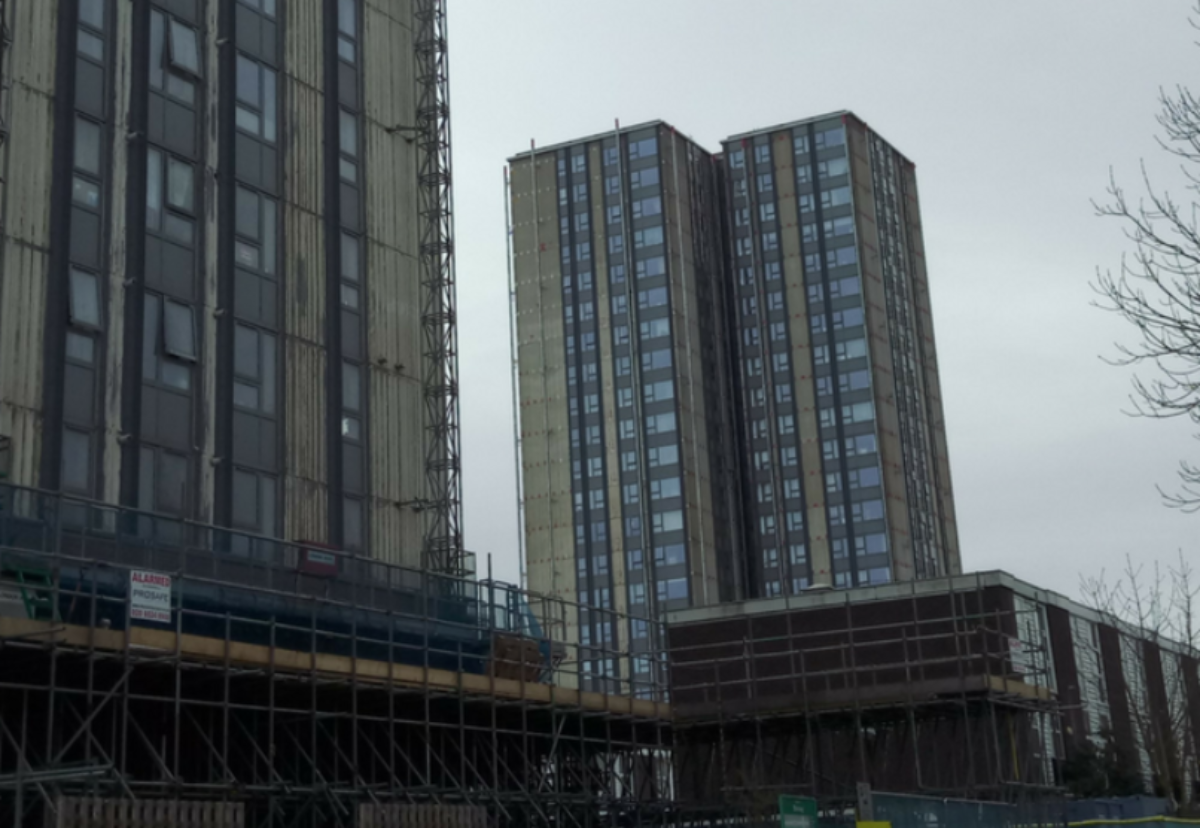 Chalcots Estate where resident were evacuated because of fire risk concerns after the Grenfell Tragedy