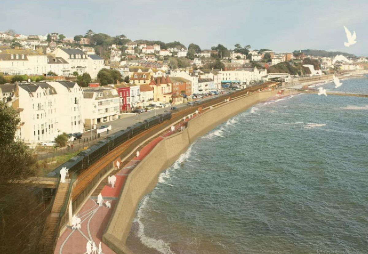 Dawlish sea wall to be raised and strengthened