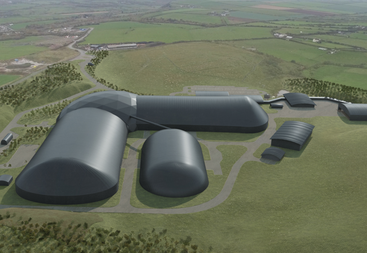 Mining facilities will be housed in domed structures to reduce their impact on the landscape