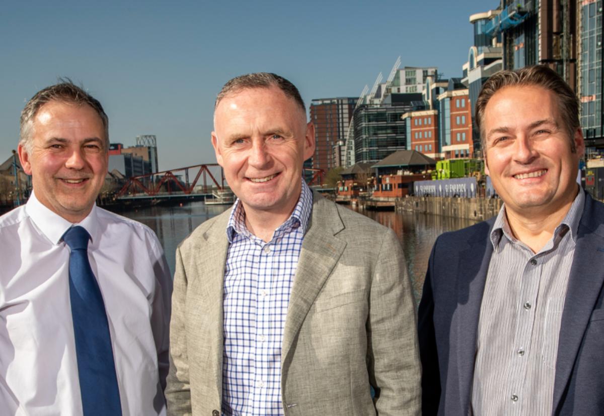 L-R: Richard Potts, area director in Liverpool; Barry Roberts, managing director, North West; Shaun Jones, area director of Manchester